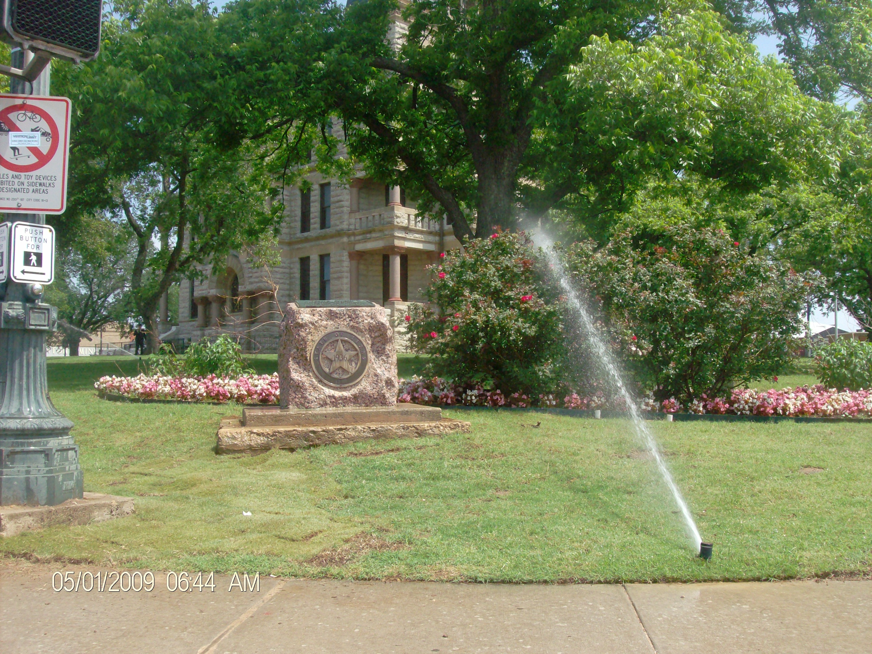 Landscape Enhancement at The Courthouse on the Square, Denton TX